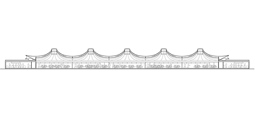 Section through Nursery Pavilion, Lord's