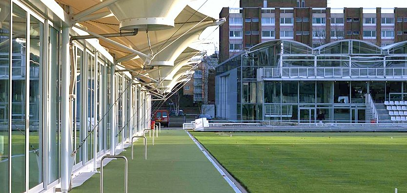 Exterior view of Nursery Pavilion, Lord's