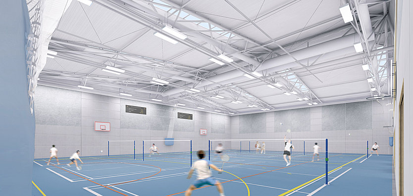 New indoor sports hall