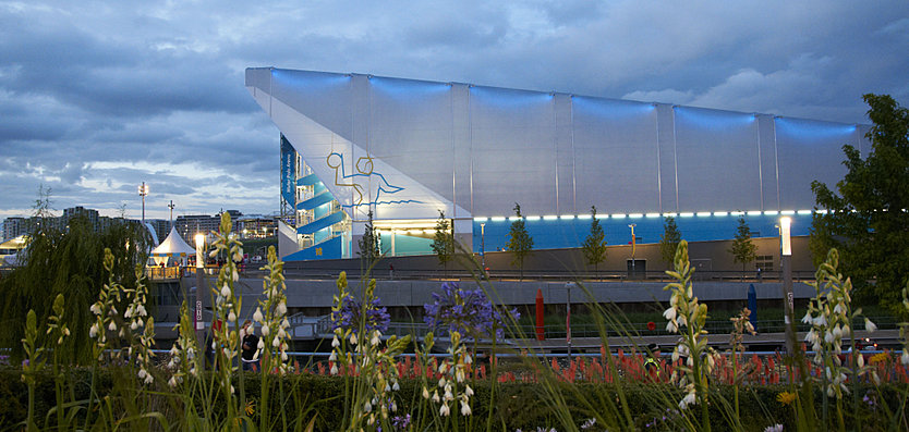 Exterior view of London 2012 Water Polo Arena