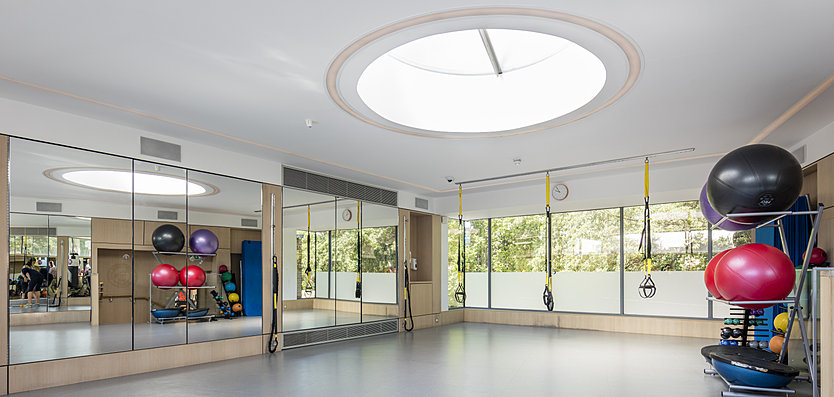Interior view of the Hurlingham Club Gym Extension