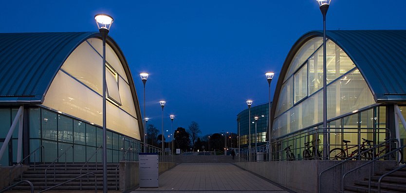 Exterior view of Indoor Athletics Centre, Brunel University